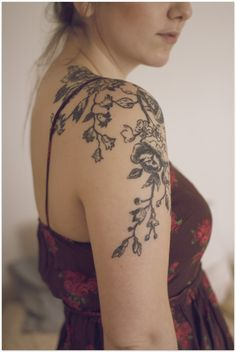 gorgeous floral shoulder/arm tattoo by aline