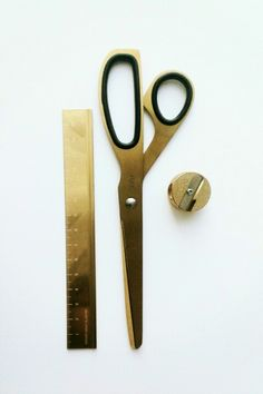 Gold stationery tools- by Midori, Hay and a German brand I don't know the name of. Photo by Tiwidot http://www.instagram.com/tiwidot