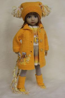 Doll Clothes Under Five Dollars Knitting Dolls Clothes, Ag Doll Clothes, Crochet Doll Clothes, Sewing Dolls, Knitted Dolls, Doll Clothes Patterns, Crochet Dolls, Dolly Fashion, American Doll Clothes