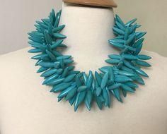 Stunning Gerda Lynggaard Monies Style Modernistic Turquoise Necklace #Unbranded #StrandString