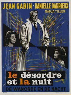 Find more movies like The Night Affair to watch, Latest The Night Affair Trailer, A vice inspector for the Paris police takes special interest in the plight of drug-addicted Lucky whom he considers to be more victim than criminal. Romance Movies, Drama Movies, Site Pour Film, Film France, Jean Gabin, Foreign Movies, French Films, Streaming Movies, Old Movies