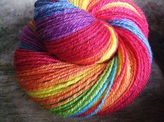 Together  Handspun bfl wool 3ply by VickeVira