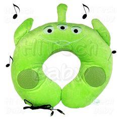 Green Alien stereo neck pillow!