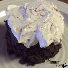 Chocolate mug cake with frosting