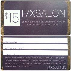 F/X Salons Referral Program