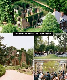 barnsley garden resort - Georgia. top photo by Brita Photography and bottom photos by Graham Terhune