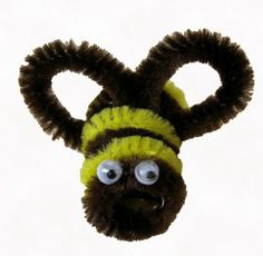 Beyond A Garden: Bees Made With Chenille Stems (Pipe Cleaners)