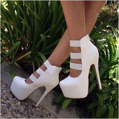 Pretty PU Cut-Outs Dress Sandals