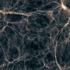Structure of the visible Universe if we could see dark matter.