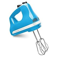 Amazon.com | KitchenAid KHM512CL 5-Speed Ultra Power Hand Mixer, Crystal Blue: Pasta Bowls