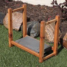 Works As A Garden Kneeler Or A Portable Chair Kneeling Stool, Wooden Garden,  Wooden