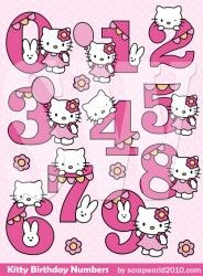 Hello Kitty Inspired Pink Embossed Alphabet Clip Art Letters