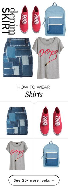 """""""Denim skirt"""" by iclalnurr on Polyvore"""