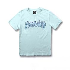 Thrasher Powder Blue Summer T-shirt Short Sleeve