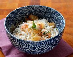 Recette - Salade légère au pamplemousse crevettes et vermicelles de riz en pas à pas