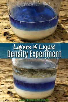 Teaching kids about density is fun when combined with a brightly colored liquids. A simple kitchen science liquid density experiment...