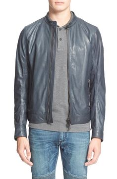 Diesel men's leather jacket nordstrom