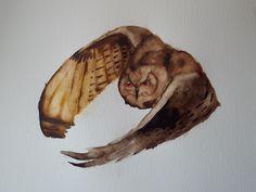 Sketch of an Eagle Owl in Flight
