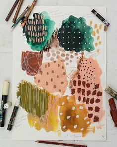 New Watercolour Abstracts — LAURA HORN ART Mark making supplies. We all have our favourites and right now I am into Caran D'Ache Neo Color I Art Journal Inspiration, Painting Inspiration, Art Inspo, Abstract Watercolor, Watercolor And Ink, Abstract Art, Planner Bullet Journal, Art Diy, Mark Making