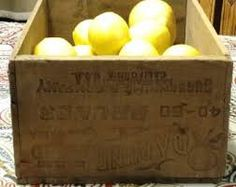Antique Wood Crate Daphne Brand Prunes by PamsWayBackWhen on Etsy