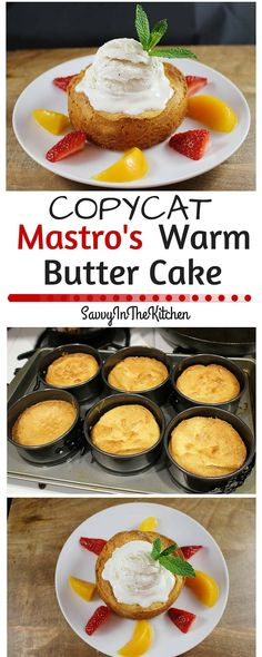 copycat mastros butter warm cake Copycat Mastros Warm Butter CakeYou can find Butter cake recipe and more on our website Köstliche Desserts, Delicious Desserts, Dessert Recipes, Yummy Food, Yummy Eats, Tasty, Easy Cake Recipes, Sweet Recipes, Baking Recipes