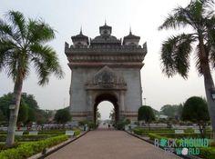 Arc de Triomphe Patuxai in Vientiane, Laos