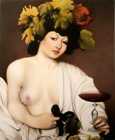 Nani Serrano recupera el Bacco de Caravaggio subrayando su androginia.