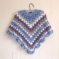 Girls crochet poncho  Petite women poncho  Medium poncho