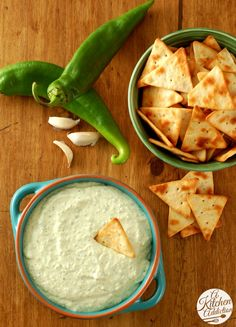 Creamy Roasted Hatch Chile Dip Recipe l www.a-kitchen-addiction.com