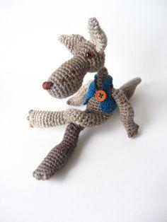 .loup gris....crochet...