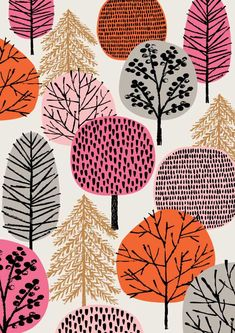 Pink Copse limited edition giclee print by EloiseRenouf on Etsy