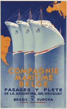 Compagnie Maritime Belge - 1938 -