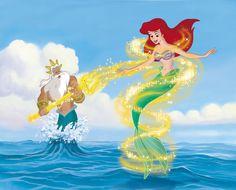 Little Mermaid II Ariel's Beginning ~ Ariel becomes a mermaid again with King Triton's help.