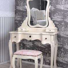 SEA305 http://www.emobili.ro/cumpara/sea51-set-masa-alba-toaleta-cosmetica-machiaj-oglinda-masuta-305 #eMobili