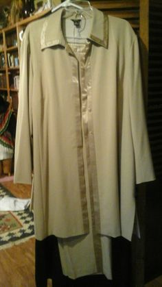 Vintage Size 20 Stunning Silk and Satin Pants Evening Formal Suit. Beige Fully Silk Lined by LillieEttas4You on Etsy