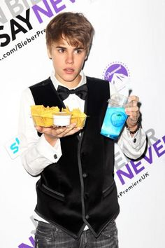 Justin Bieber attends the European premiere of Justin Bieber: Never Say Never held at The Cineworld O2 on February 16, 2011 in London, England.