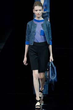 Emporio Armani Spring 2015 Ready-to-Wear - Collection - Gallery - Look 1 - Style.com