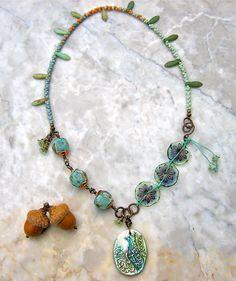swaying dancer necklace . . . by marthasrubyacorn on Etsy, $67.00