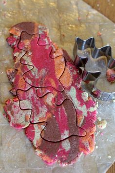 Marbled Autumn Salt Dough  - repinned by @PediaStaff – Please Visit ht.ly/63sNtfor all our pediatric therapy pins
