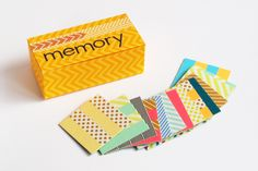 DIY memory game with washi tape | momentstolivefor