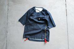 TD by itten. / New Football Tee  - linen denim