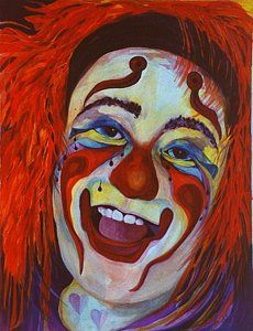 Clowns Painting - Last Laugh by Carolyn LeGrand