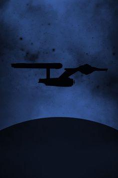 16x24 Star Trek Enterprise Profile Inspired Minimalist Poster. $29.00, via Etsy.