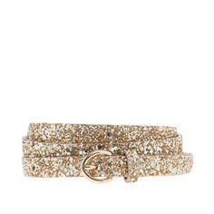 Glitter round-buckle skinny belt/......I know...but it will be a piece of jewelry around one's waist....