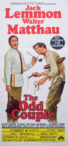 THE ODD COUPLE DAY BILL POSTER IN EXCELLENT CONDITION, CONSERVATION FRAMED