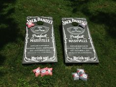Jack Daniels Corn Hole Board (need the Evan Williams label) Visit & Like our Facebook page! https://www.facebook.com/pages/Rustic-Farmhouse-Decor/636679889706127