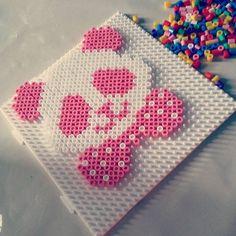 Pink panda perler beads by fluffybalrog