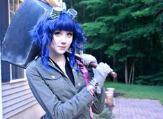 Wonderful Scott Pilgrim Ramona Flowers Cosplay. If we ever did a cosplay together, he would flip if I suggested this.