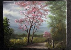 It feels like Spring! Watch as Kevin shows you how to paint this scenic landscape with pink trees. Check out his website for instructional DVDs, brushes and paint! www.paintwithkevin.com