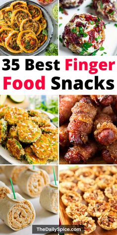 The best party finger foods that will make you the hit of the party! Bring these easy party appetizers to your next party or family gathering and be sure to impress the guests! Party Finger Foods, Finger Food Appetizers, Yummy Appetizers, Appetizers For Party, Appetizer Recipes, Savoury Finger Food, Christmas Appetizers, Tapas, Food Platters